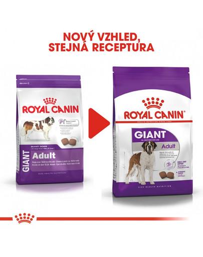 ROYAL CANIN Giant adult 15 kg + 3 kg gratis granule pro dospělé obří psy