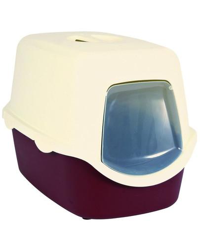 Wc vico kryté s dvířky, bez filtru 56 x 40 x 40 cm, - červeno/krémová