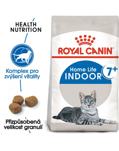ROYAL CANIN Indoor 7+ 3.5 kg granule pro stárnoucí kočky žijící uvnitř