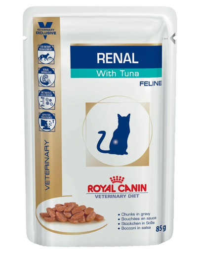 ROYAL CANIN Renal Feline tuňák 85g x12