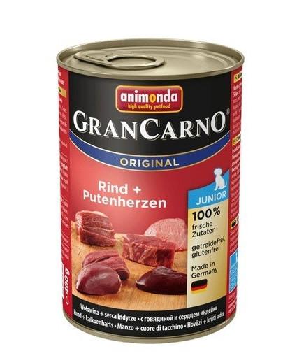 ANIMONDA GranCarno Junior hovězí & krůtí srdce 400 g