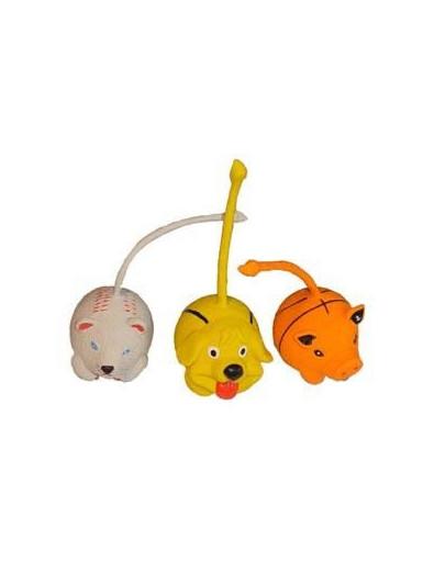 TRIXIE Hračka pro psy Zvířata/míčky 6cm Box 15ks
