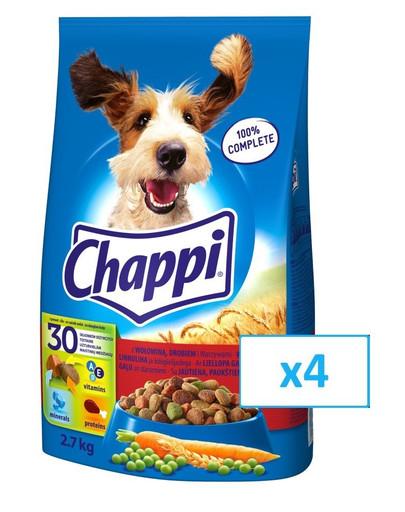 CHAPPI hovězí a drůběž 4x 2.7 kg