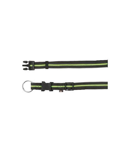 TRIXIE Obojek S-M  30–45 cm / 17 mm černo / zelený