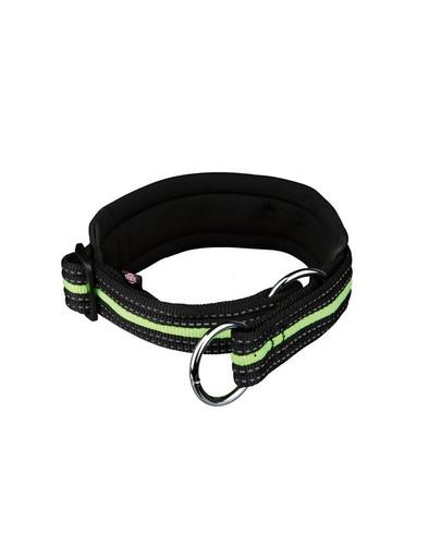 TRIXIE Obojek reflexní s–m 33–39 cm / 25 mm černo-zelený