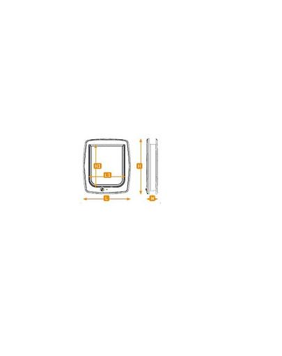 FERPLAST Drzwi swing 5 brąz 22.5 x 9.6 x 25.2 cm