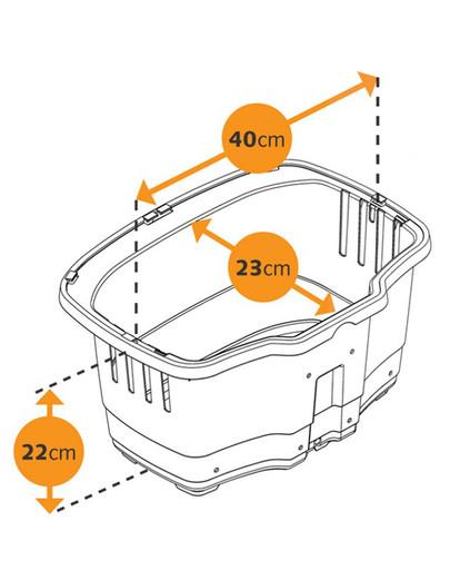 FERPLAST plastová přepravka na kolo rapid 20