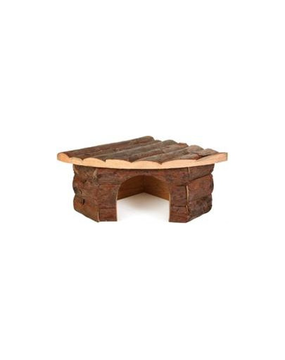 TRIXIE Rohový dřevěný domeček pro morče jesper 32 X 13 X 21/21 cm
