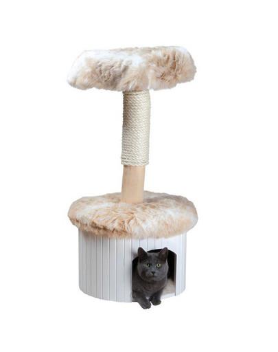 """TRIXIE Škrabadlo pro kočku """"Meru"""",98 cm, strakaté bílé/béžové"""