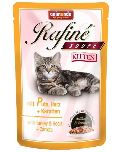ANIMONDA Rafiné soupe kitten krůtí srdce mrkev 0.1 kg