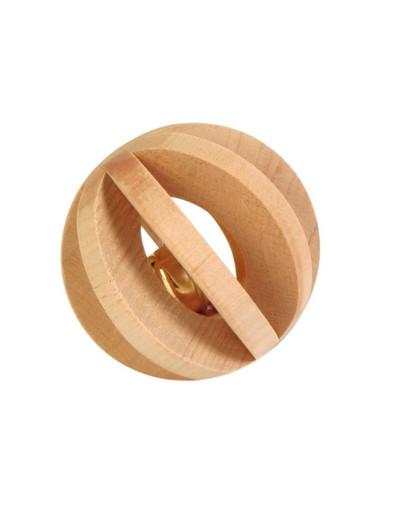 TRIXIE Dřevěná koule se zvonečkem pro hlodavce