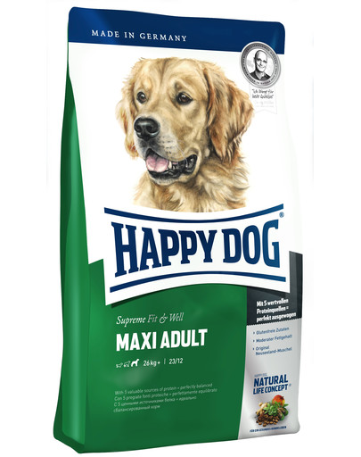 HAPPY DOG Fit & well adult maxi 4 kg