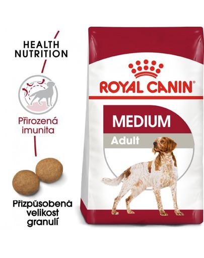 ROYAL CANIN Medium adult 15+3 kggratis granule pro dospělé střední psy
