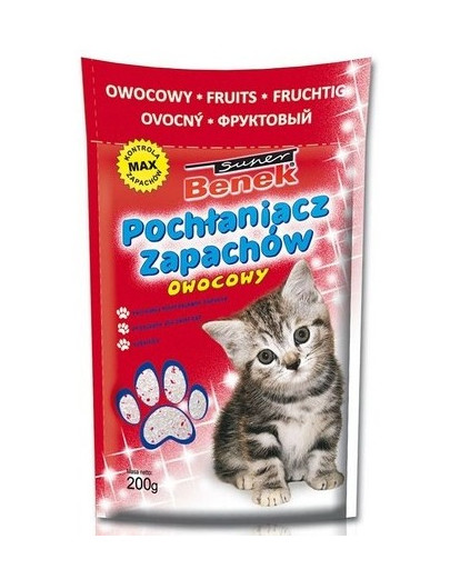BENEK Sanitizér/Pohlcovač zápachů s vůní ovoce 200 g