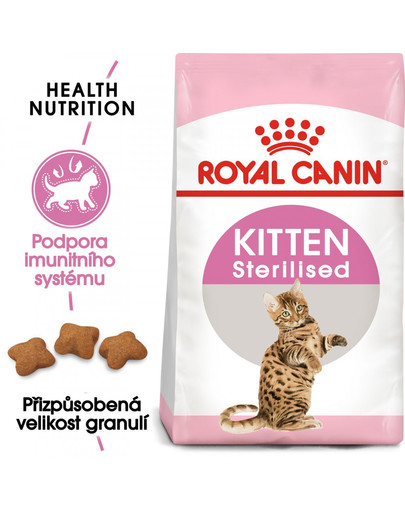 ROYAL CANIN Second Age Kitten Sterilised 400g granule pro kastrovaná koťata