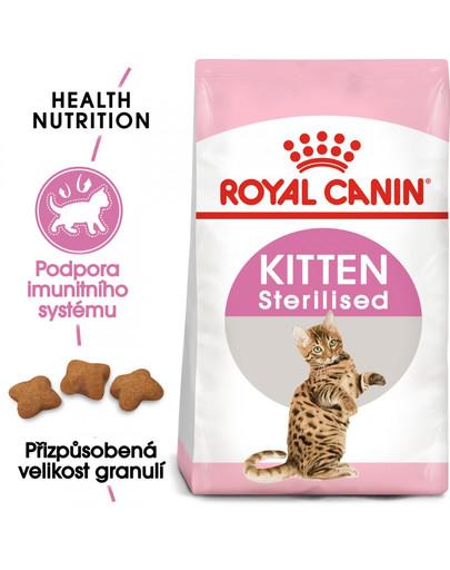 ROYAL CANIN Second Age Kitten Sterilised 2kg granule pro kastrovaná koťata