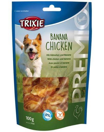 TRIXIE snack premio banán a kuřecí 100 g