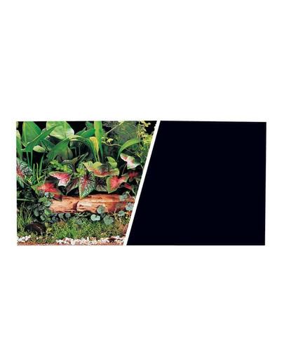 HAGEN Oboustranné pozadí do akvária Rostliny / černé 30x7.5cm